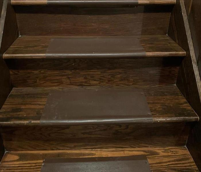 Restored Fire Damage Stairs
